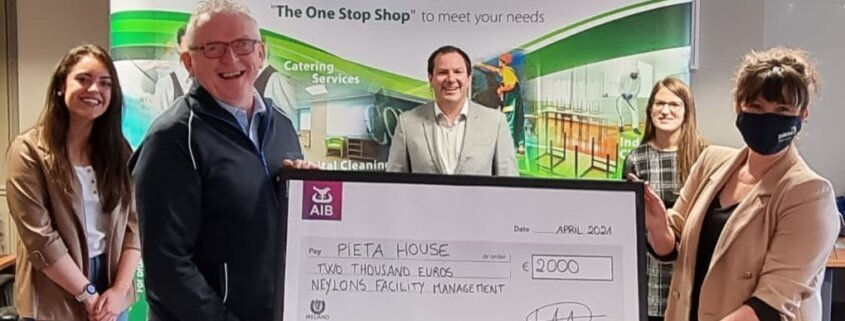 Pieta House Cheque April 2021